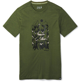Smartwool Merino Sport 150 Mountain Ventures T-shirt Herrer, moss green heather